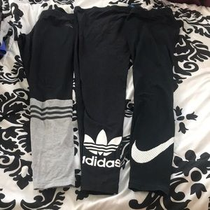 Adidas and Nike leggings